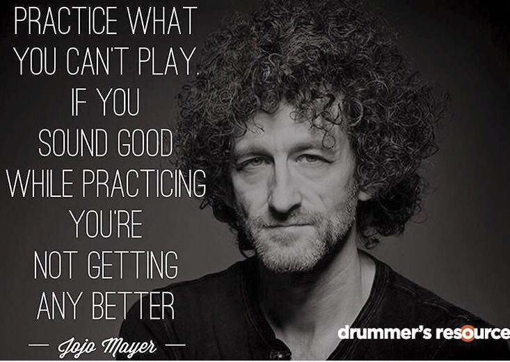 Practice what you can't play