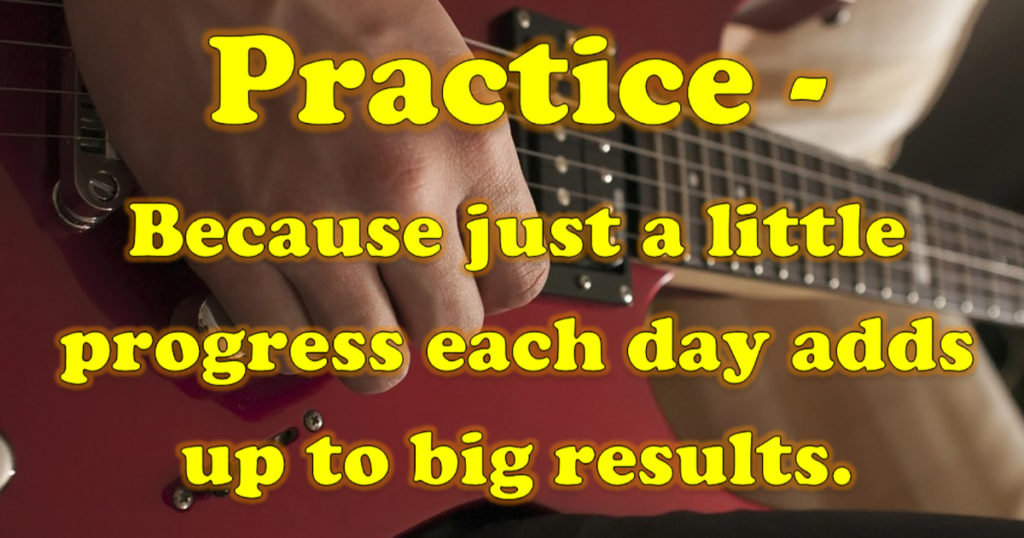 Practice a little to get big results