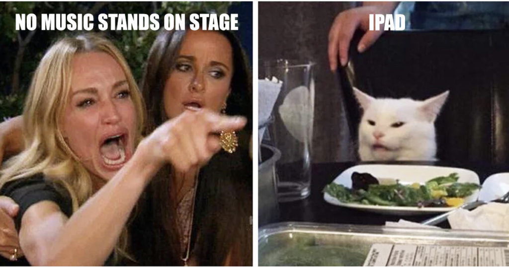 No Music Stands On Stage