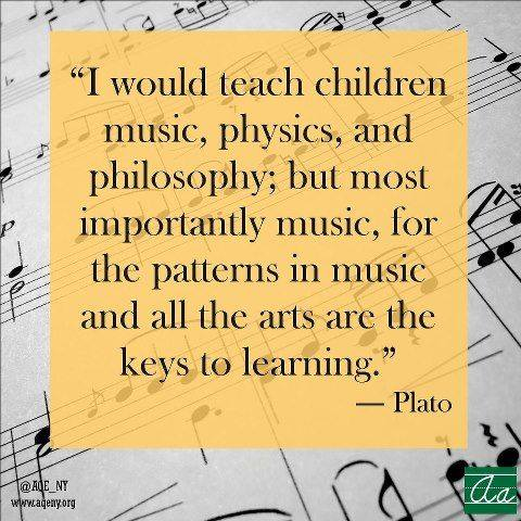 Teach children music quote from Plato