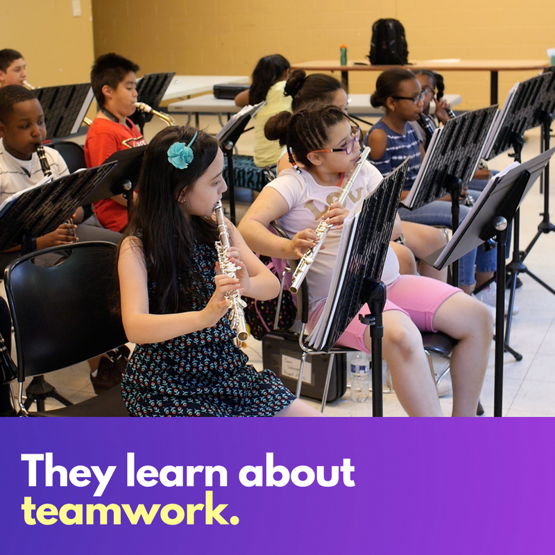 Music teaches teamwork