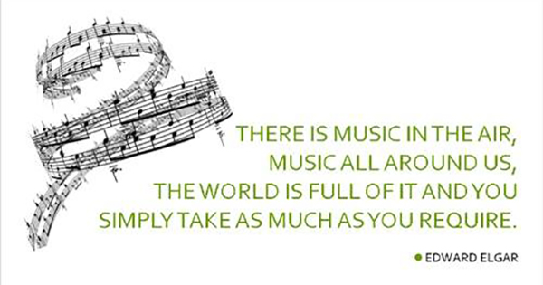 There is music in the air