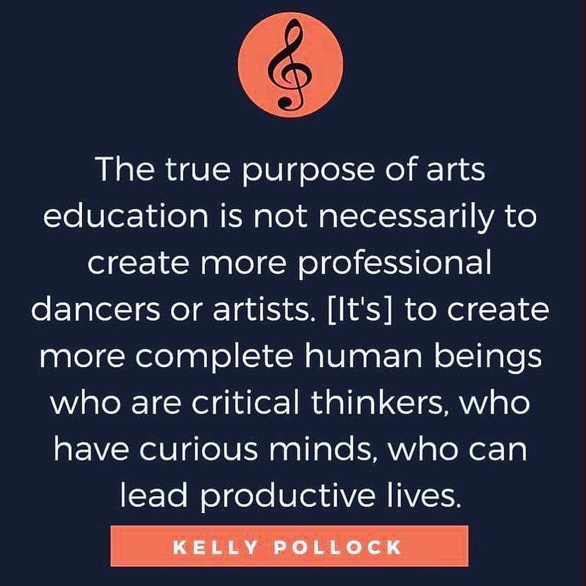 The true purpose of arts education