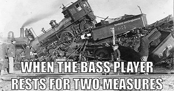 When the bass player rests for two measures