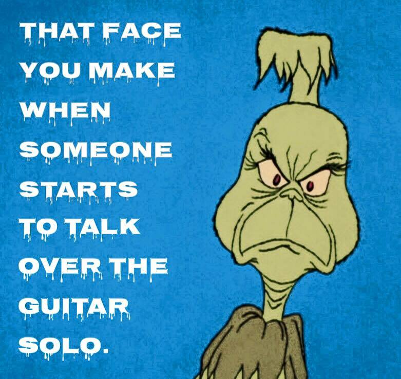 Face you make when someone talks over guitar solo