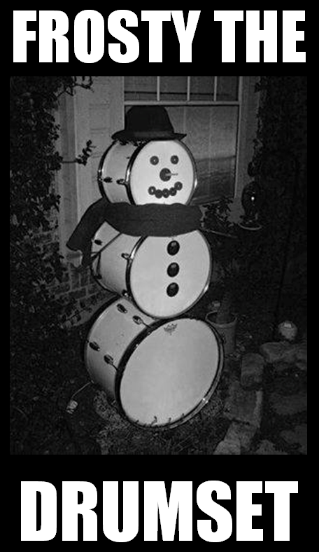 Frosty the drumset