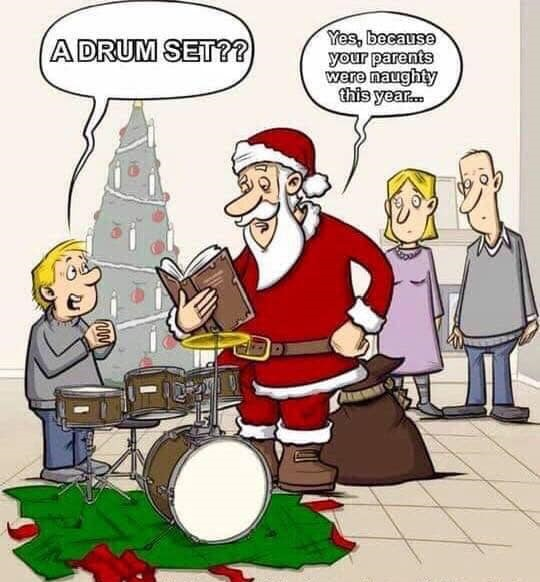 Naughty parents Christmas drum set