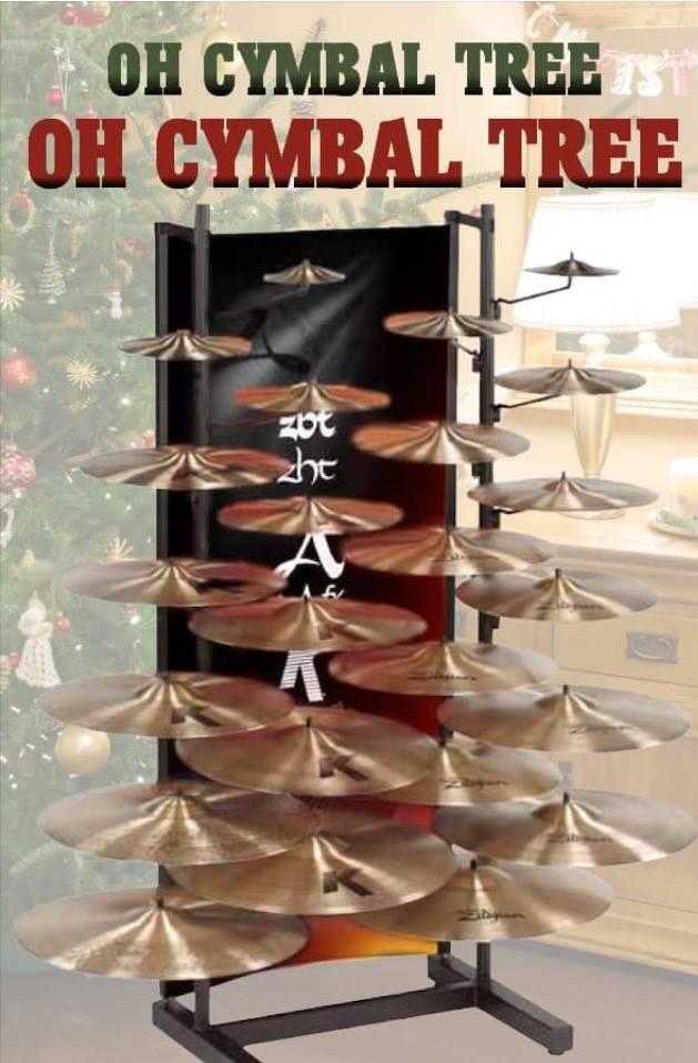 Cymbal Christmas tree