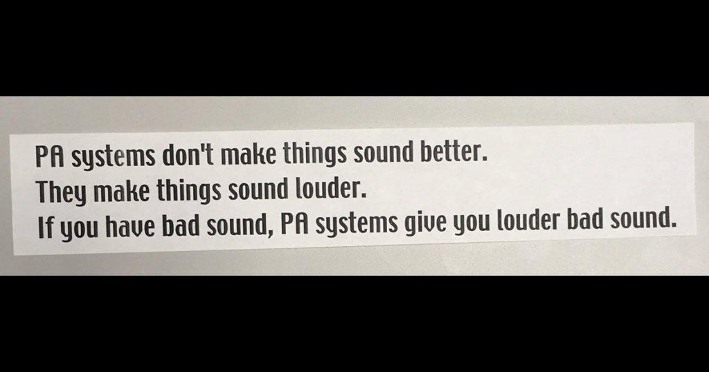 Louder bad sound